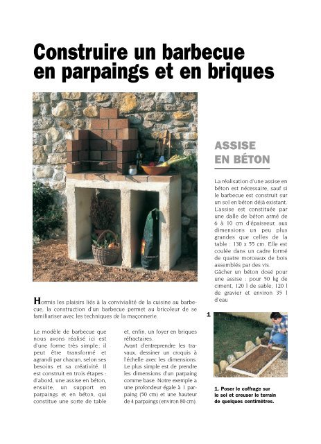 Construire un barbecue en parpaings et en briques