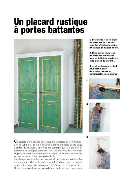 Créer un placard rustique à portes battantes